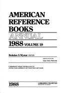 Cover of: American Reference Books Annual, 1988 (American Reference Books Annual)