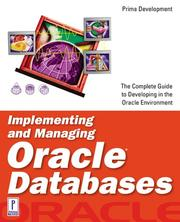 Cover of: Implementing and Managing Oracle Databases | Steve Lemme