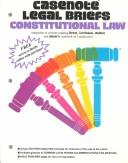 Cover of: Casenote Legal Briefs: Constitutional Law