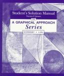 Cover of: Student's Solutions Manual for a Graphical Approach Series