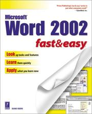 Cover of: Microsoft Word 2002