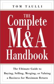 Cover of: The Complete M&A Handbook | Tom Taulli