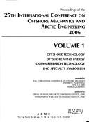 Cover of: 2006 Proceedings of the 25th International Conference on Offshore Mechanics and Arctic Engineering