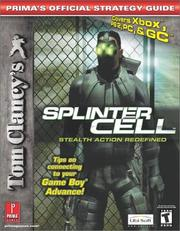 Cover of: Tom Clancy's Splinter Cell (PS2, Xbox, PC and GC)