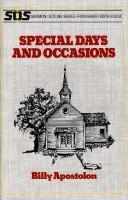 Cover of: Special Days and Occasions (Sermon Outline Series)