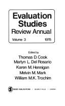 Cover of: Evaluation studies |