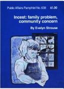 Cover of: Incest | Evelyn Strouse