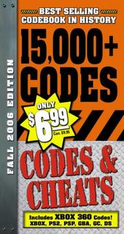 Cover of: Codes & Cheats Fall 2006 Edition: Over 15,000 Secret Codes by Prima Games