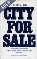 Cover of: City for Sale | Henry Trocme Aubin