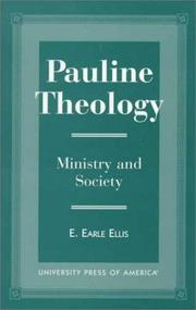 Pauline theology by E. Earle Ellis