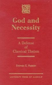 Cover of: God and Necessity
