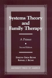 Cover of: Systems theory and family therapy