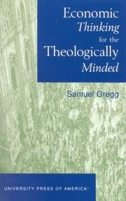 Cover of: Economic Thinking for the Theologically Minded