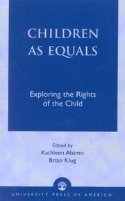 Cover of: Children as Equals | Alaimo Kathleen