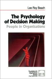 Cover of: The psychology of decision making