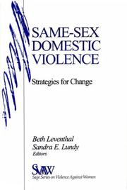 Cover of: Same-Sex Domestic Violence |