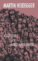 Cover of: Essays in Metaphysics: Identity and difference.