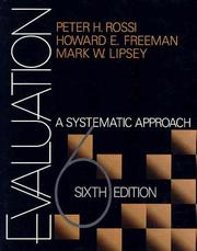 Cover of: Evaluation | Peter H. (Henry) Rossi