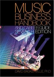 Cover of: Music Business Handbook and Career Guide | David Baskerville