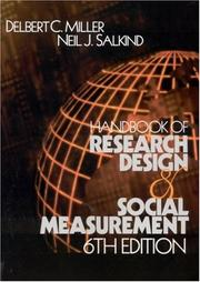 Cover of: Handbook of Research Design and Social Measurement