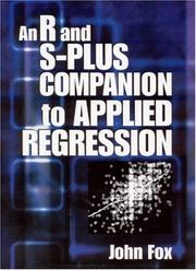 An R and S Plus Companion to Applied Regression by John Fox