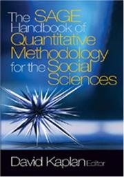 Cover of: The SAGE Handbook of Quantitative Methodology for the Social Sciences | David W. Kaplan