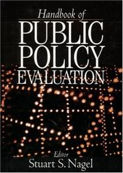 Cover of: Handbook of Public Policy Evaluation