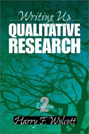 Cover of: Writing Up Qualitative Research (Qualitative Research Methods)