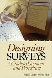 Cover of: Designing Surveys | Ronald F. Czaja
