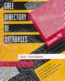 Cover of: Gale directory of databases. |