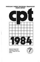 Cover of: C P T 1984 (Cpt / Current Procedural Terminology (Standard Edition)) |