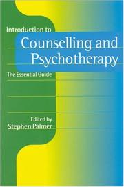 Cover of: Introduction to Counselling and Psychotherapy