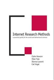 Cover of: Internet research methods by