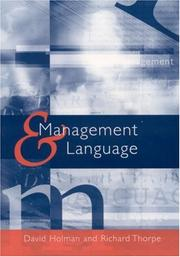 Cover of: Management and Language |