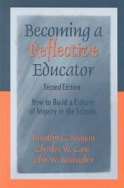 Cover of: Becoming a Reflective Educator | Timothy G. Reagan