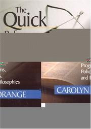 Cover of: The Quick Reference Guide to Educational Innovations | Carolyn M. Orange