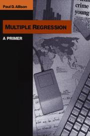 Cover of: Multiple regression