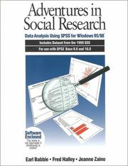 Adventures in social research by Earl R. Babbie