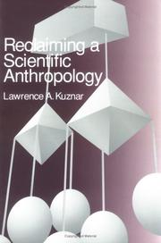 Cover of: Reclaiming a Scientific Anthropology | Lawrence A. Kuznar