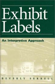 Cover of: Exhibit labels