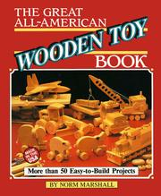 Cover of: The great all-American wooden toy book