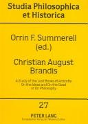 Cover of: Christian August Brandis