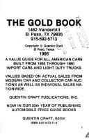 Cover of: Gold Book: Official Used Car Value Guide, No 3 (Gold Book: Official Used Car Value Guide)