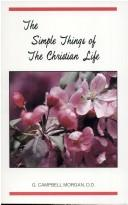Cover of: The Simple Things of the Christian Life