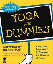 Cover of: Yoga for Dummies | Georg Feuerstein
