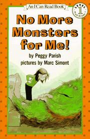 Cover of: No More Monsters for Me! | Peggy Parish