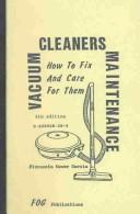 Cover of: Vacuum Cleaners Maintenance | Florencio Oscar Garcia