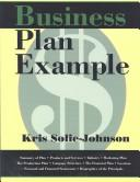 Cover of: Business Plan Example