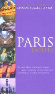 Cover of: Special Places to Stay Paris Hotels | Ann Cooke-Yarborough