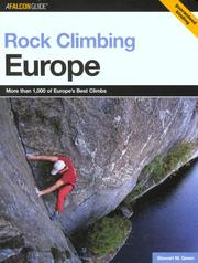 Cover of: Rock Climbing Europe (Regional Rock Climbing Series)